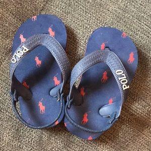 Polo Ralph Lauren size 5 toddlers flip flops